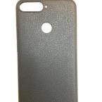 Huawei Bőrhatású fekete szilikontok 0.5mm