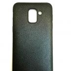Samsung Bőrhatású fekete szilikontok 0.5mm