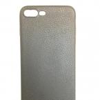 iPhone Bőrhatású fekete szilikontok 0.5mm
